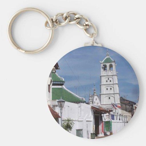 Kampung Hulu Mosque, Melaka, Malaysia Basic Round Button Keychain