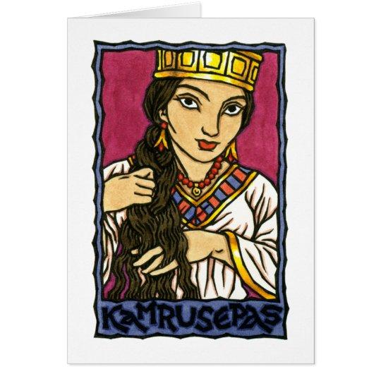 Kamrusepas Greeting Card