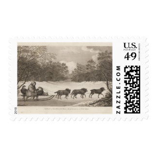 Kamtschatka Man Travelling in the Winter Postage Stamp