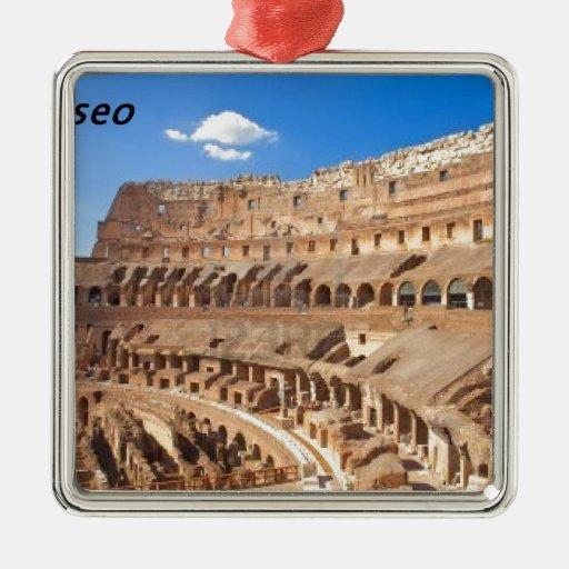 [KAN.K] .JPG Italia-Roma--antiguo-collosseo Adorno Navideño Cuadrado De Metal