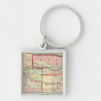 Kan, Neb, Colo Map by Mitchell Keychain