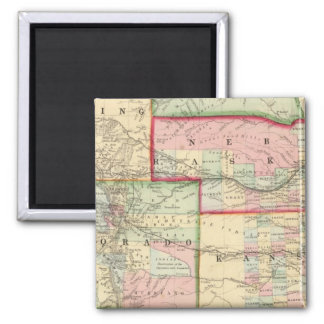 Kan Neb Colo Map by Mitchell Refrigerator Magnet