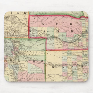 Kan, Neb, Colo Map by Mitchell Mouse Pad