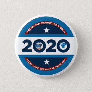 Kan -Yes He Can 2020 Pinback Button