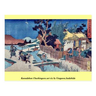 Kanadehon Chushingura act six by Utagawa Sadahide Post Cards