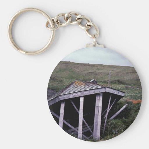 Kanaga Fox Farm Ruins Basic Round Button Keychain