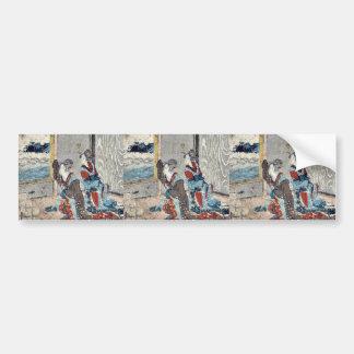 Kanagawa  by Katsushika, Hokusai Ukiyoe Bumper Stickers