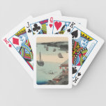 Kanagawa, Japan: Vintage Woodblock Print Bicycle Playing Cards