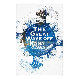 Kanagawa open sea 浪 reverse side stationery