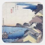 Kanagawa: Opinión el Ridge Pegatina Cuadradas