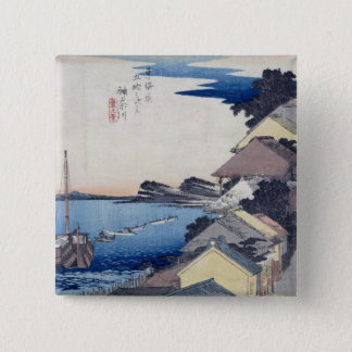 Kanagawa: View of the Ridge Pinback Button