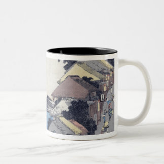 Kanagawa: View of the Ridge Two-Tone Coffee Mug