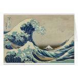 Kanagawa Wave by Katsushika Hokusai Greeting Card