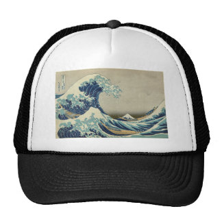 Kanagawa Wave by Katsushika Hokusai Trucker Hat