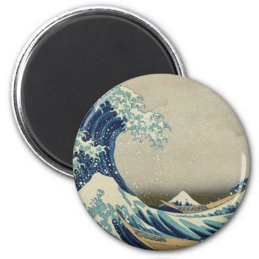 Kanagawa Wave by Katsushika Hokusai Refrigerator Magnets
