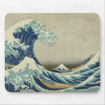 Kanagawa Wave by Katsushika Hokusai Mousepads
