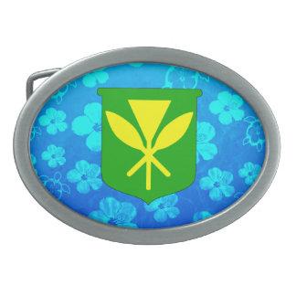 Kanaka Maoli Blue Honu Belt Buckle