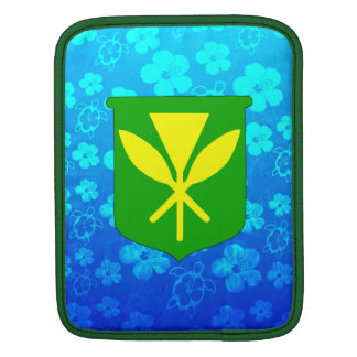 Kanaka Maoli Blue Honu iPad Sleeve