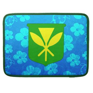 Kanaka Maoli Blue Honu MacBook Pro Sleeves