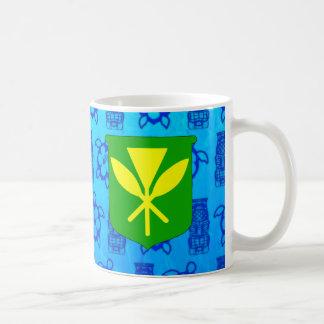 Kanaka Maoli Blue Tiki Coffee Mug