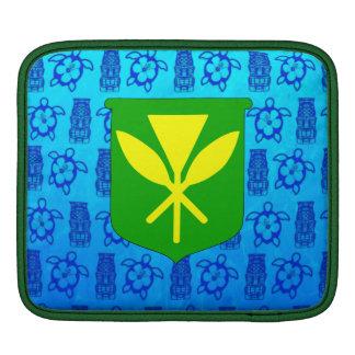 Kanaka Maoli Blue Tiki iPad Sleeve