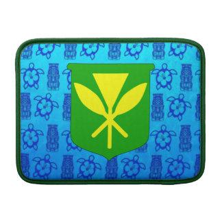 Kanaka Maoli Blue Tiki MacBook Air Sleeve