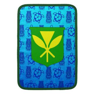 Kanaka Maoli Blue Tiki MacBook Air Sleeves