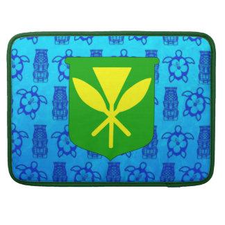 Kanaka Maoli Blue Tiki MacBook Pro Sleeves