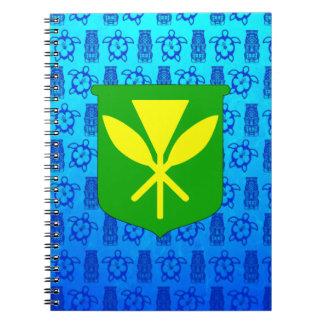 Kanaka Maoli Blue Tiki Notebook