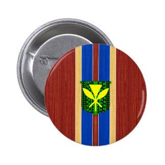Kanaka Maoli Fake Wood Surfboard Pin