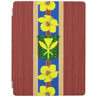 Kanaka Maoli Fake Wood Surfboard iPad Cover