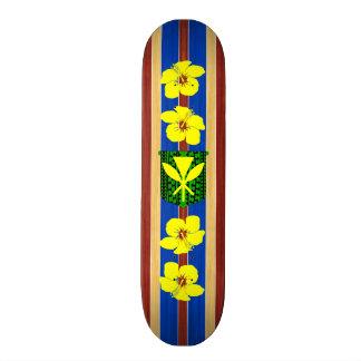Kanaka Maoli Fake Wood Surfboard Skate Board
