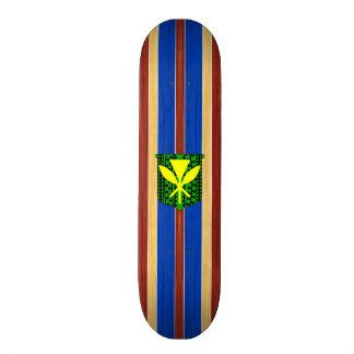 Kanaka Maoli Fake Wood Surfboard Skate Deck