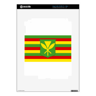 Kanaka Maoli Flag - Hawaiian Independence Flag Decal For iPad 2