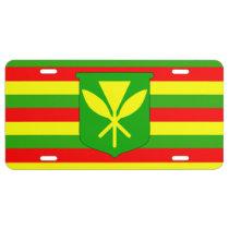 Kanaka Maoli Flag License Plate
