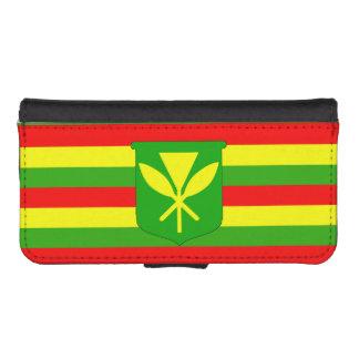 Kanaka Maoli Flag Phone Wallet Cases