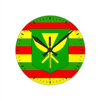 Kanaka Maoli Flag Round Clock