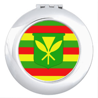 Kanaka Maoli Flag Vanity Mirror