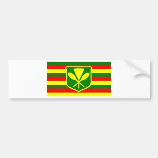 Kanaka Maoli - Native Hawaiian Flag Bumper Sticker
