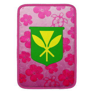 Kanaka Maoli Pink Honu MacBook Sleeves