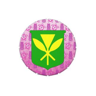 Kanaka Maoli Pink Tiki Jelly Belly Candy Tin