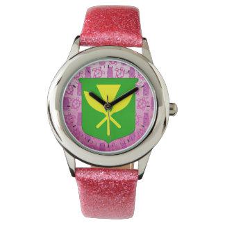 Kanaka Maoli Pink Tiki Watches