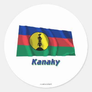 Kanaky Waving Flag with Name Stickers