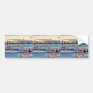 Kanaya by Ando, Hiroshige Ukiyoe Bumper Sticker