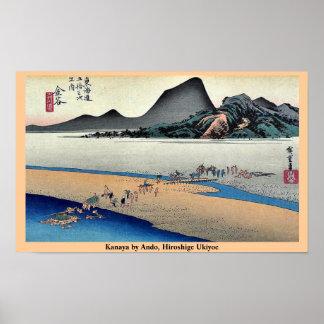 Kanaya por Ando, Hiroshige Ukiyoe Posters