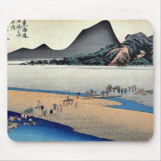 Kanaya por Ando, Hiroshige Ukiyoe Tapetes De Raton