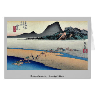 Kanaya por Ando, Hiroshige Ukiyoe Tarjetón