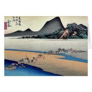 Kanaya por Ando, Hiroshige Ukiyoe Felicitacion