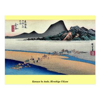 Kanaya por Ando, Hiroshige Ukiyoe Postales