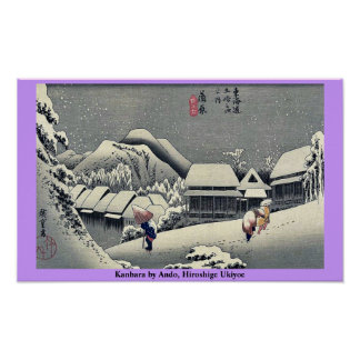 Kanbara by Ando Hiroshige Ukiyoe Posters